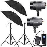 NEEWER® Photography Studio Kit - 2 x Strobe Lights, 2x Stands, 2x Umbrellas & Flash Trigger/Receiver