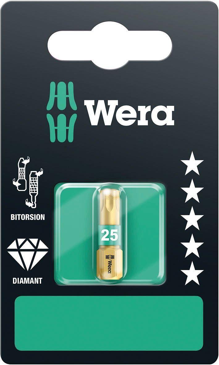 Or//Vert Wera 05134377001 Embout 867//1 Torx BDC SB 1 x TX 25x25mm