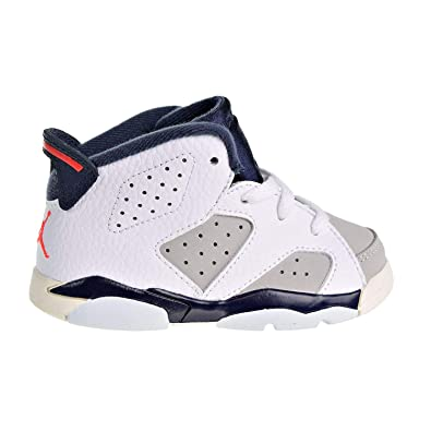 ae2c0afcb547 Nike Toddler Jordan 6 Retro Tinker White Infrared 23-Neutral Grey (4 M