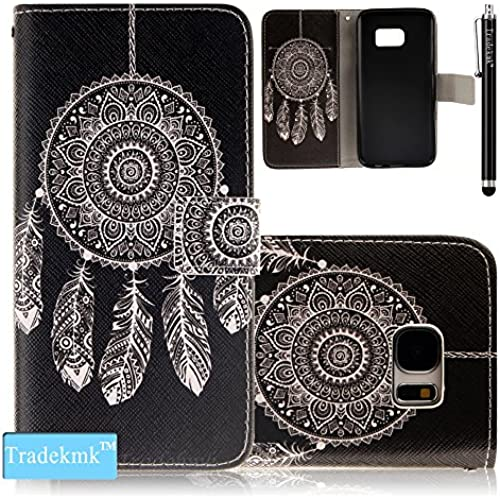 Galaxy S7 Case,S7 Case, Tradekmk(TM); PU Leather Card Holders And Stand Wallet Phone Case Cover(White Windbell) For Samsung Galaxy S7 Sales