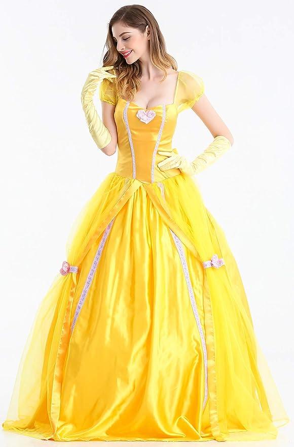 Feicuan Mujer Disfraz de Princesa Fancy Vestido Halloween Party ...