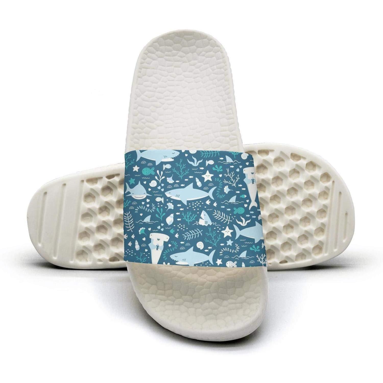 ZHUSSS Comic Underwater Scenery Sandals for Men Women Non-Slip Slippers Unisex Adult Sport Shower Slippers Sandals