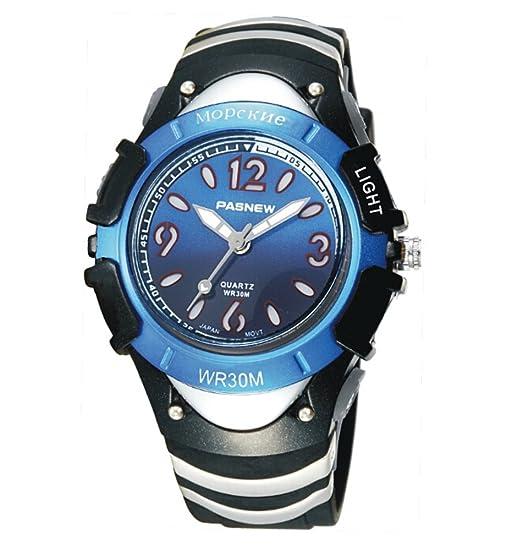 Reloj digital para niños niño moda siete luces resistente al agua reloj-C: Amazon.es: Relojes