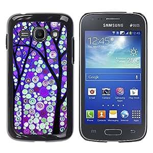 Paccase / SLIM PC / Aliminium Casa Carcasa Funda Case Cover para - Winter Purple Snow Lights - Samsung Galaxy Ace 3 GT-S7270 GT-S7275 GT-S7272