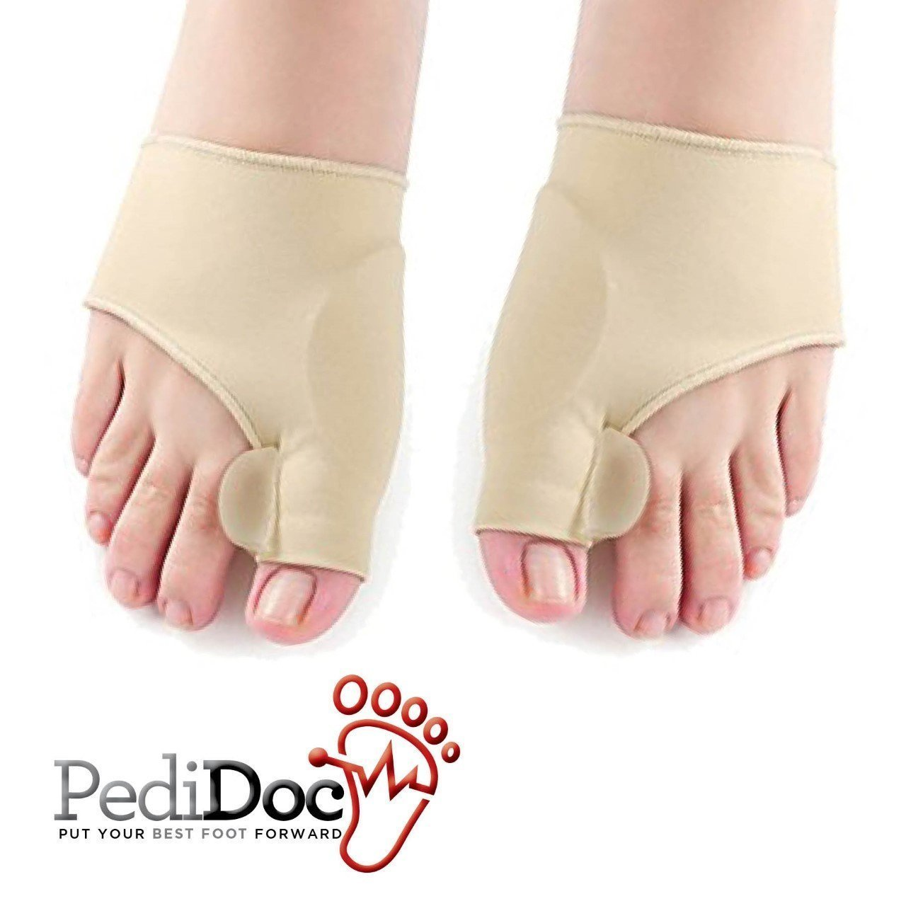 PediDoc™ Bunion Corrector – Bunion Relief Sleeves Bunion Pads Brace Cushions Toe Straightener with Gel Toe Separator, Spacer, Straightener and Spreader – Hallux Valgus Relief Big Toe Alignment