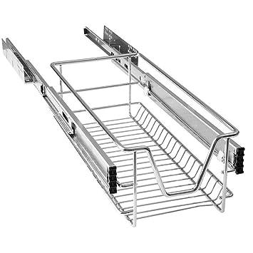 HENGMEI Cajón armario cajón extraíble cajón de cocina Estante Estantería de cocina cesta auszug Dormitorio cajón, 30 cm: Amazon.es: Hogar