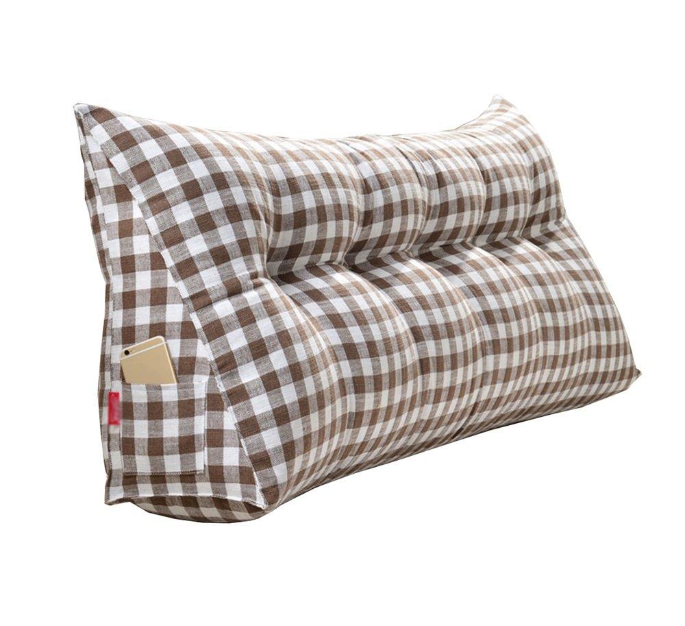 ベッドサイドの厚いクッション三角枕と長い背もたれの取り外し可能と洗濯可能なウエストピロー/レディング枕 (色 : Brown, サイズ さいず : 135 * 50 * 20cm) B07DK78BJQ 135*50*20cm Brown Brown 135*50*20cm