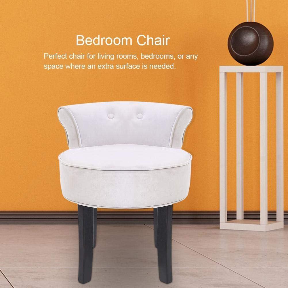 EBTOOLS Chaise /Él/égante Tabouret avec Dossier en Bois Tabouret de Maquillage Stable Chaise pour Coiffeuse Moderne Chaise avec Dossier Pratique pour Chambre Salon