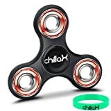 Chillax Fidget Spinner - Tri-Spinner Fidget Toy for Anxiety and ADHD - Premium Quality EDC Focus Toy for Kids & Adults - Best Stress Reducer, Giving Up Smoking Boredom and Relaxation Hand Spinner Toy