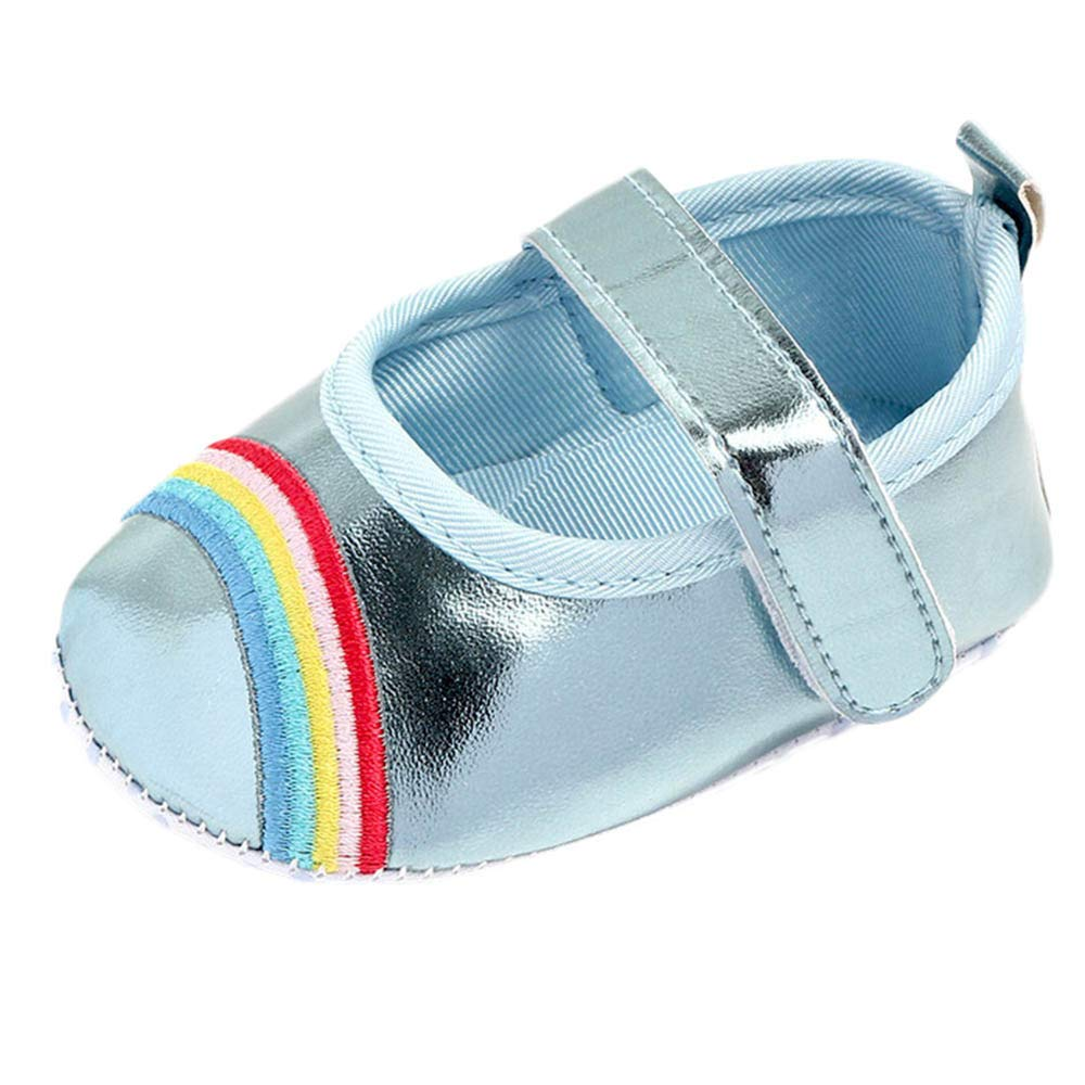 Lanhui Newborn Infant Cute Baby Girls Rainbow Bling Casual First Walker Toddler Shoes