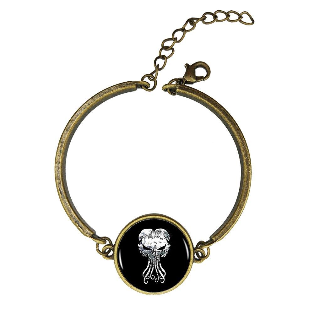Adjustable Vintage Bronze Bracelets Kraken Cthulhu Copper Bangle Custom Glass Cabochon Charm Brace Lace