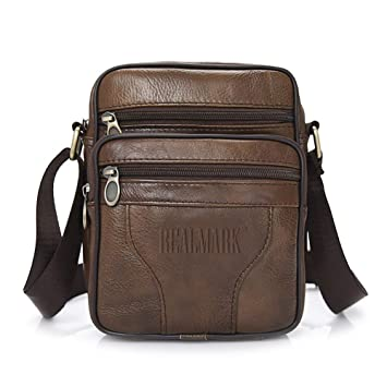 3f670efc9 Realmark-Bolso bandolera de piel auténtica para hombre, bolso de negocios:  Amazon.es: Electrónica