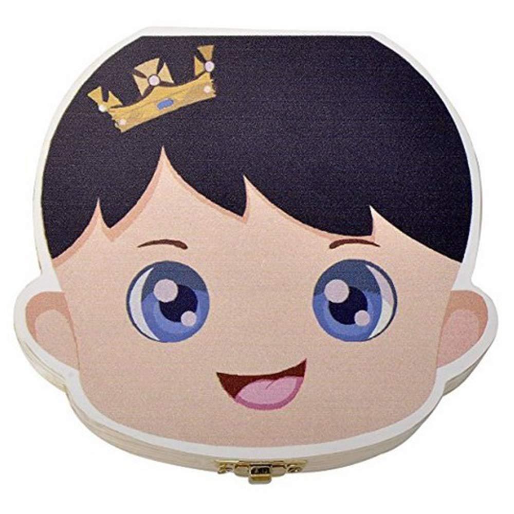 1PC Baby Children Save Teeth Storage Holder Baby Teeth Keepsake Boxes Wooden Tooth Fairy Box DANMEI