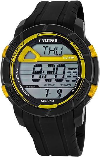 Calypso de Hombre Reloj de Pulsera Sport Digital PU de