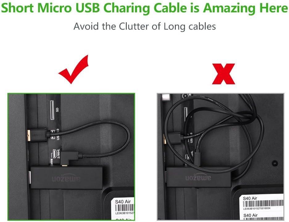 UGREEN TV Stick Kabel Micro USB 90 Grad Kabel Winkelstecker Stromkabel f/ür Chromecast,TV Stick,Roku Streaming Stick und so weiter