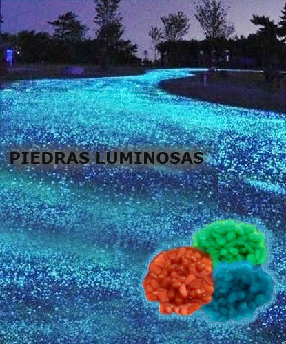 Pack de 100 piedras decorativas luminosas que brillan en la oscuridad - Naranja: Amazon.es: Hogar
