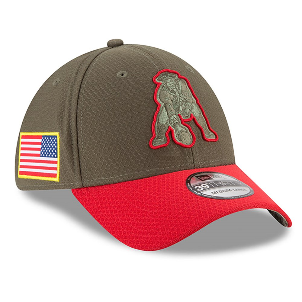 low priced 7cda0 477cb Salute To Service New England Patriots New Era Throwback Classic 39thirty  Hat