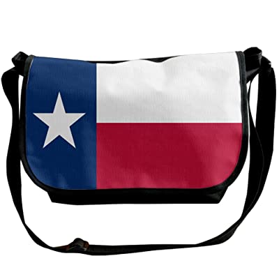 Futong Huaxia Flag Of Texas Travel Messenger Bags Casual Handbag School Shoulder Bag Crossbody Bag Unisex Sling Bag