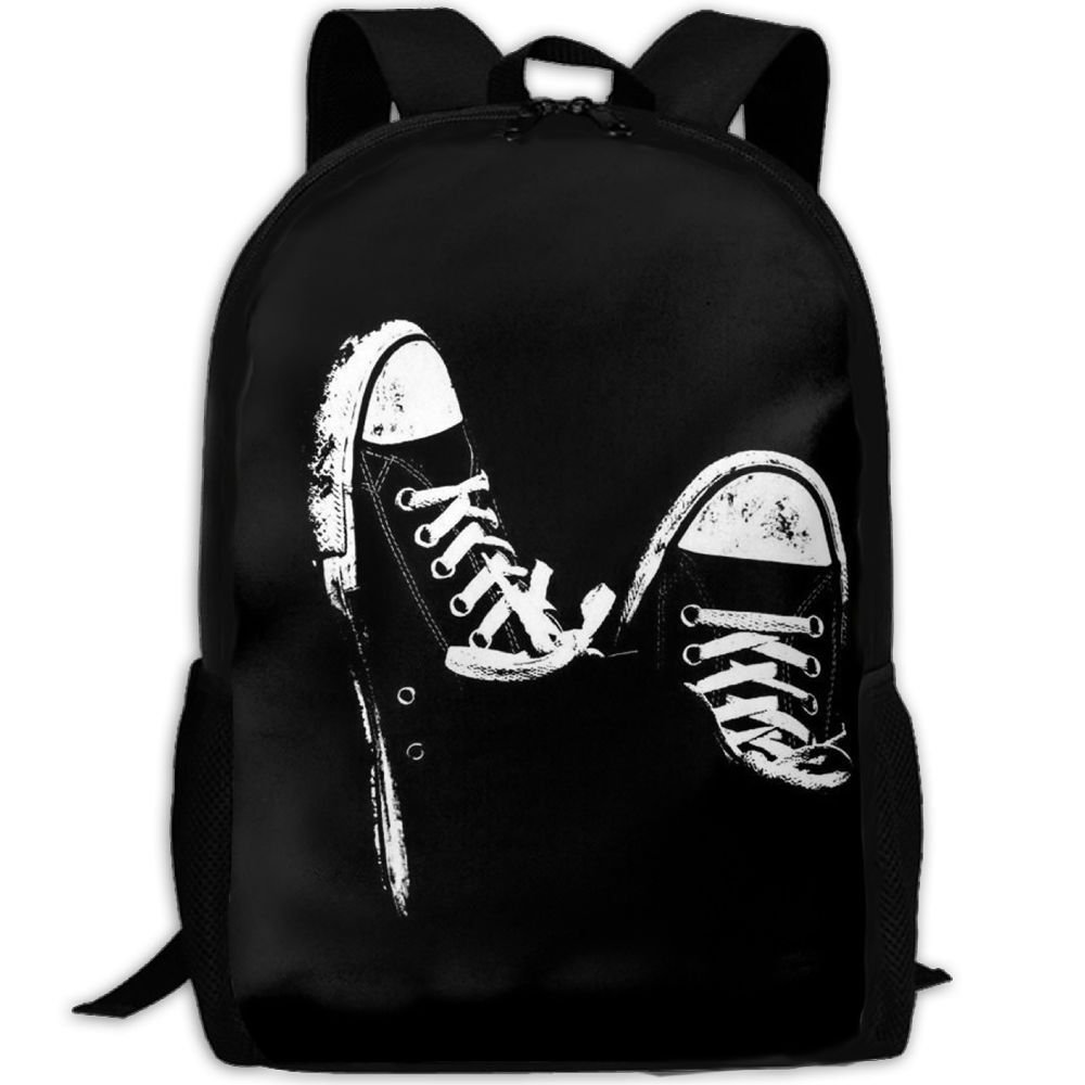 Black Cool Shoes Pattern Double Shoulder Backpacks For Adults Traveling Bags Full Print Fashion by THIS STORE
