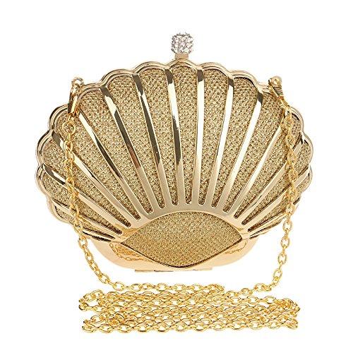 Métal Cadeau Bandoulière Main Clubs Dames Sac Sac Soirée Pour De À Femmes LOUHH À À Glitter Party Gold Main Pochette Shell Prom Nuptiale Sac Mariage fpwvqcgA