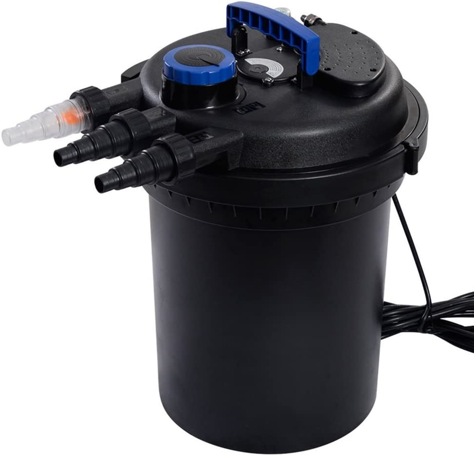 TKT-11 Pond Pressure Bio Filter 4000GAL W/ 13W UV Sterilizer Light 10000L Koi Water 61AxOLX05JLSL1000_