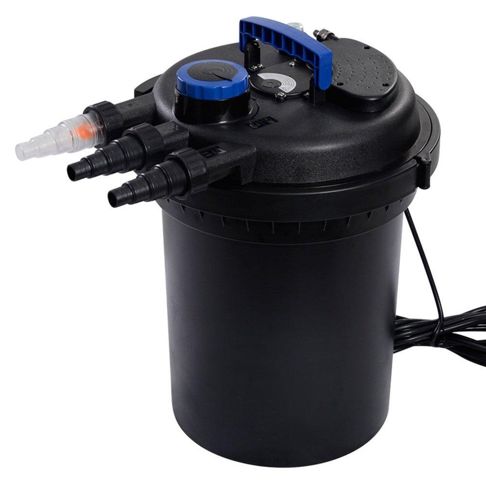 TKT-11 Pond Pressure Bio Filter 4000GAL W/ 13W UV Sterilizer Light 10000L Koi Water