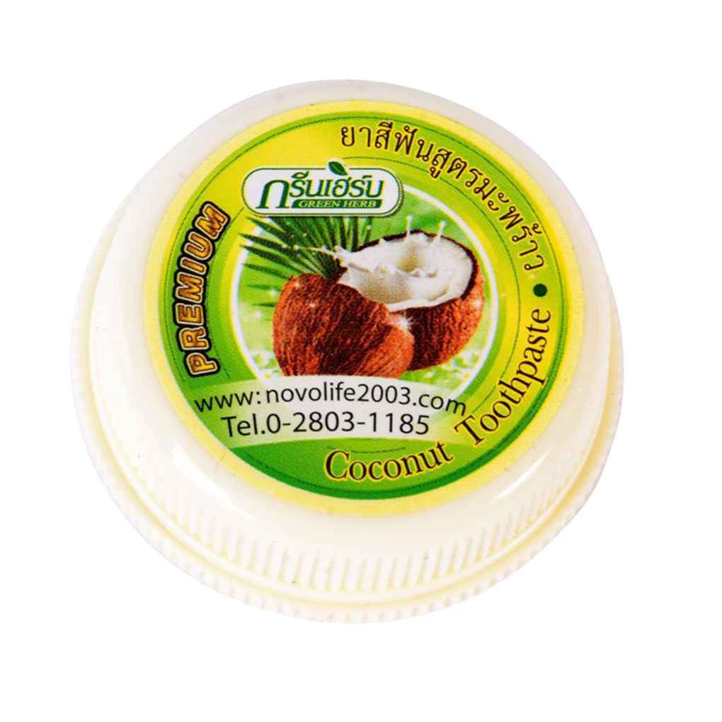 Gankmachine Thailandia Coconut dentifricio e verde Herb Clove Whitening pulizia Rmove Calculus Fumo Macchie polvere dentale