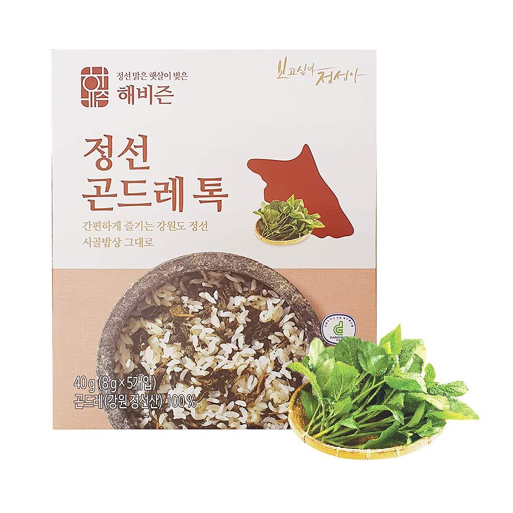 Jeongseon Gondeure Thistle Tok, Korean Gondre Namul Dried Vegetables Cirsium Setidens Herb, Korean Food 곤드레톡 40g (8g x 5ea)