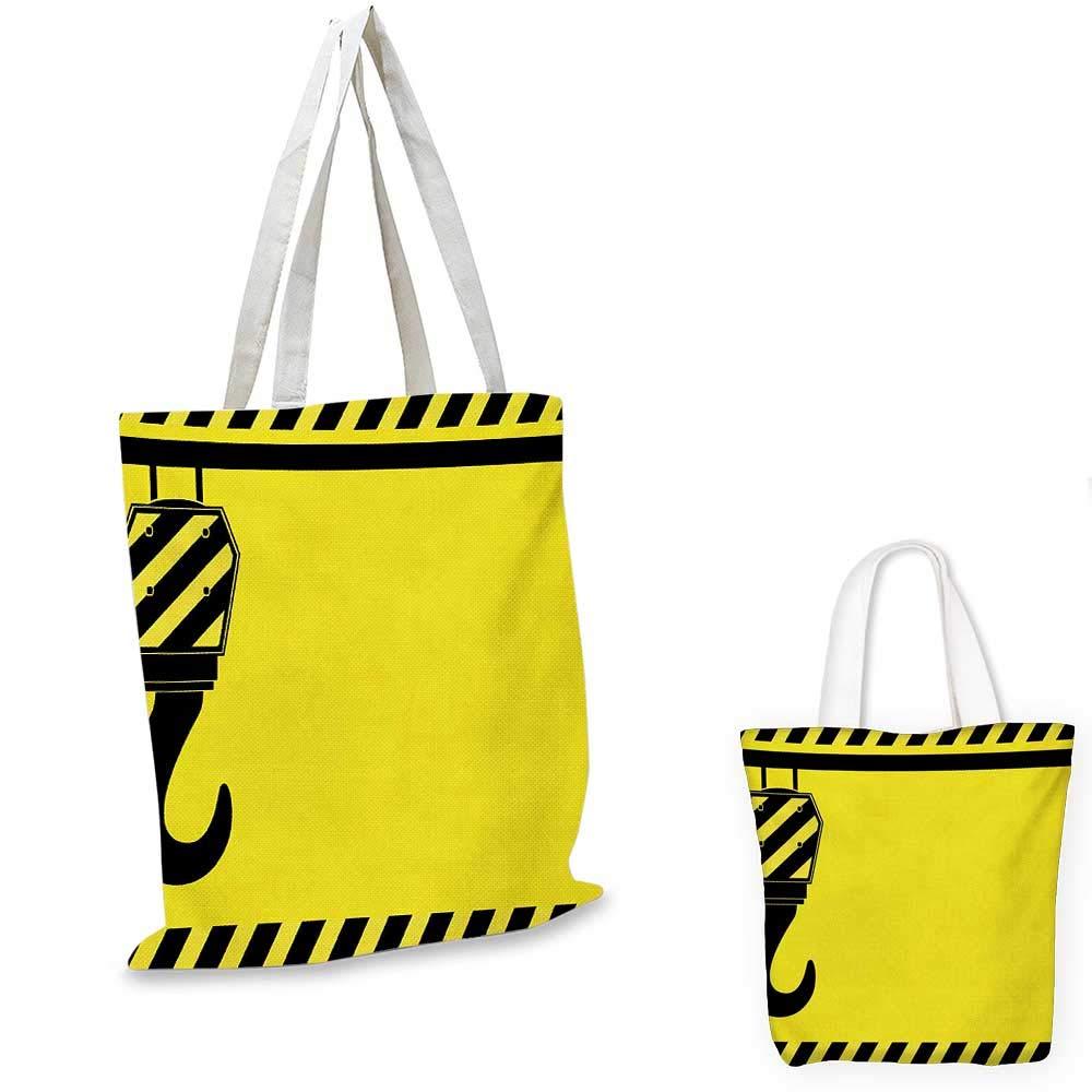 Construction canvas messenger bag Construction Machinery and Equipment Transportation Careers Mechanics Theme canvas beach bag Multicolor 16x18-13