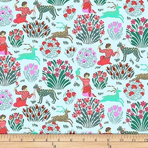 FreeSpirit Fabrics Splendor By Amy Butler Forest Friends Fabric, Sky, Fabric By The - Outs Splendor Cut