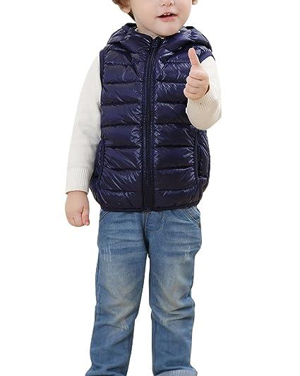 PengGeng Chaqueta De Pluma para Niños Niñas Ligero Chaleco Abrigos con Capucha Sin Manga Chaquetas De Invierno: Amazon.es: Ropa y accesorios