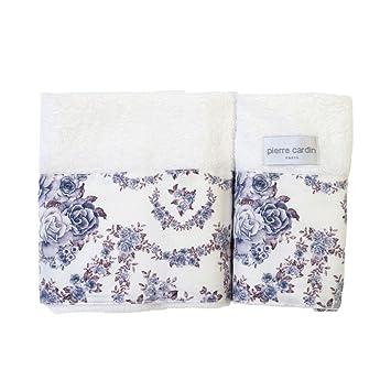 Pierre Cardin - Juego de toallas de baño Lilac Rose 1 + 1, color blanco