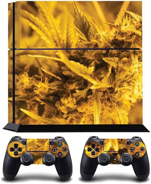 Marijuana Buds Print PS4 PlayStation 4 Vinyl Wrap / Skin / Cover / Pegatina para Sony PlayStation 4 Console y PS4 Controllers: Amazon.es: Hogar