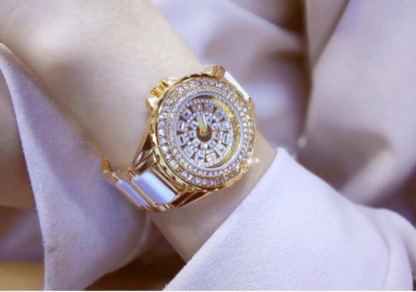 QSM Mira El Reloj De Mujer De Marca De Diamante Completo Personalizado De La Lista Enlazada De Gama Alta, Reloj De Temperamento De Los Hombres, Reloj Deportivo Al Aire Libre