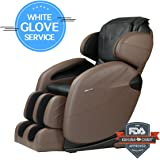 Space-Saving Zero-Gravity L-track Full-Body Kahuna Massage Chair Recliner LM6800 with 6 Auto programs & Heating therapy (Brown WG)