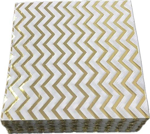 Amazon Com Decorative Paper Napkins Ripple Gold Mix Yellow 2 Ply