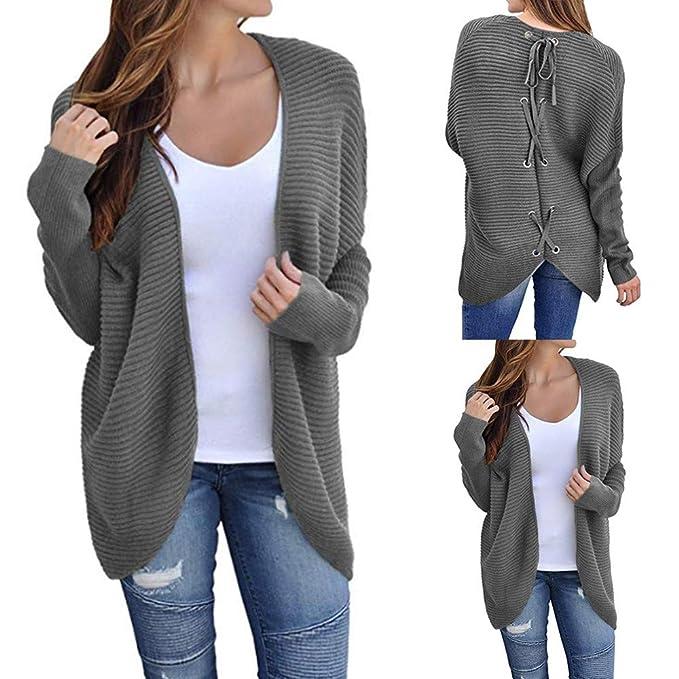 Luckycat Las Mujeres del Invierno del Hombro del suéter de Punto sólido suéter Remata la Camiseta