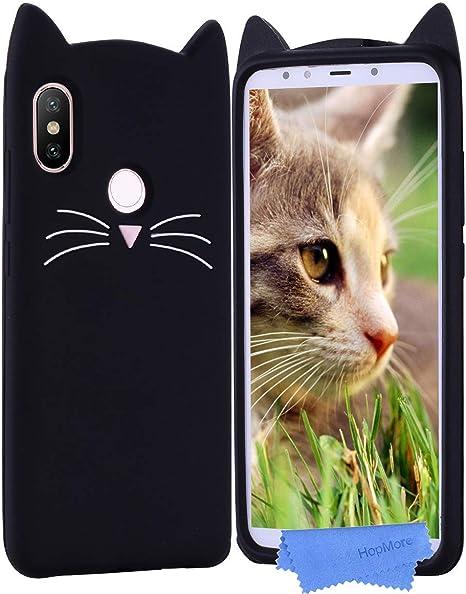 HopMore Gato Funda para Funda Xiaomi Mi A2 Silicona Motivo 3D ...