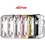 Apple Watch Case 42mm And 38mm,KCFIR Plated TPU Scratch-resistant Flexible Case Slim Lightweight Protective Bumper Cover for Apple Watch Series 1, Series 2 (38mm rose gold)