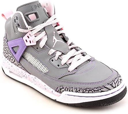 Nike Girls Jordan Spizike (GS) Cool Grey/Purple Earth-Liquid Pink Purple Earth 535712-028