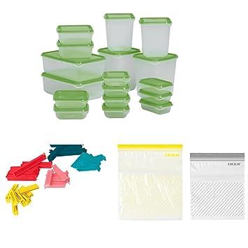 Gut Picknick Storage Bundle U2013 Ikea Kunststoff Lebensmittel Aufbewahrung Set Mit  50 Reißverschluss Wiederverschließbare Beutel Und 30