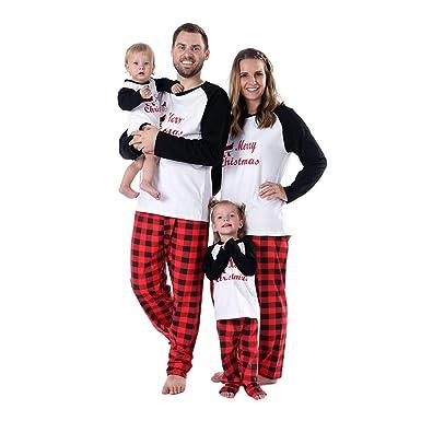 Gyratedream Pyjamas Women Men Kids Baby Christmas Family Matching Pajama  Sets Classic Letter Printed Homewear Parents-Child Sleepwear Nightwear  ... 98455ff4a
