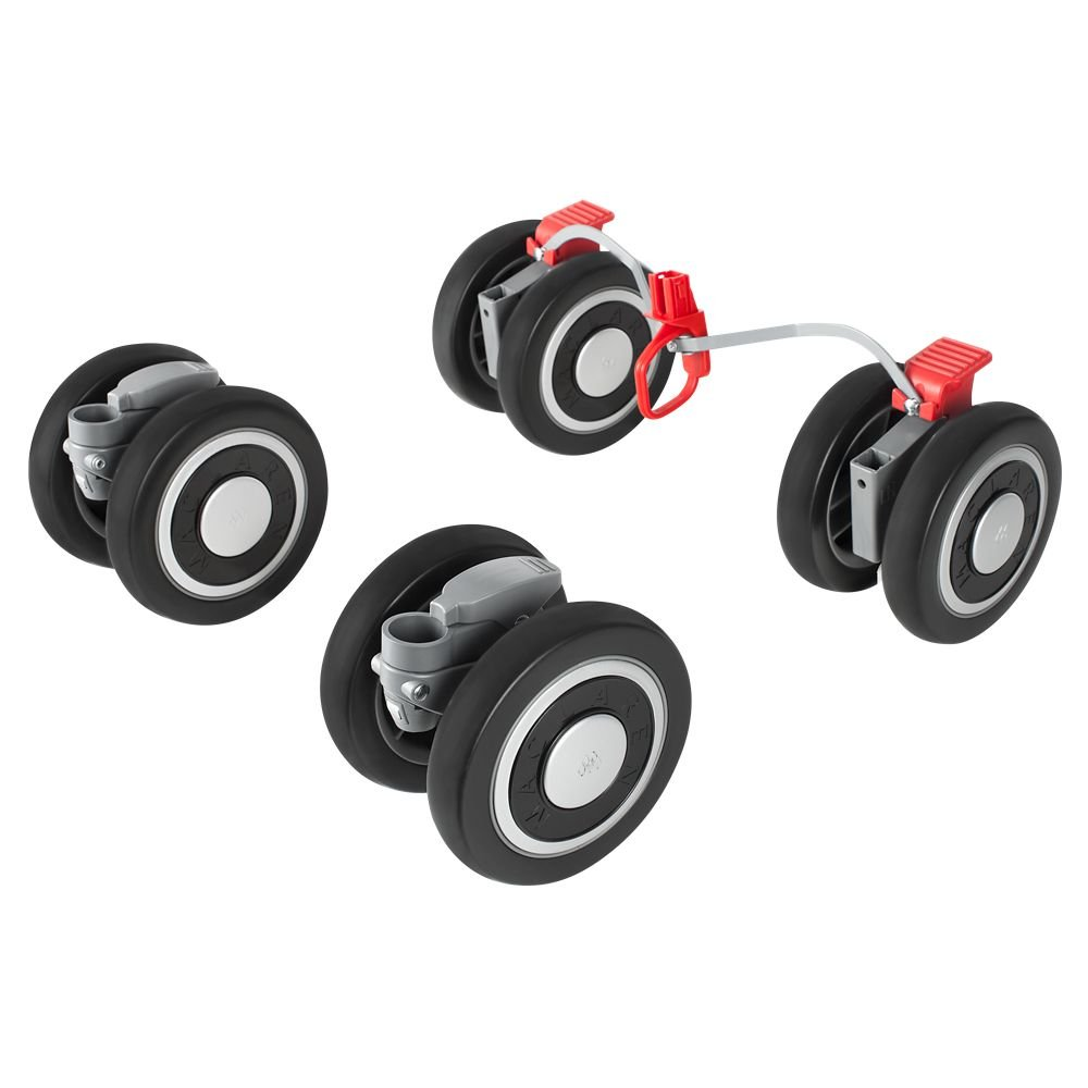 Maclaren Techno XT Front and Rear Wheels (Black/Silver) Maclaren UK Baby PM1Y280092