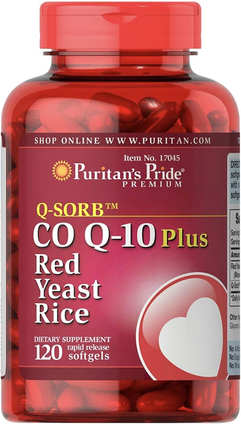 Q-Sorb CoQ10 Plus Red Yeast Rice,120 Rapid Release Softgels by Puritan s Pride