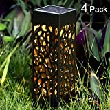 BEAU JARDIN Solar Lights Pathway Outdoor Garden Powered Path Lighting Solar Glow Led Pathway Lights Front Gate Bright Solar Landscape Lights Black Waterproof Sidewalk Lamp Patio Walkway