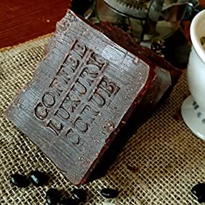 Brazilian Pure Coffee Luxury Scrub Soap Bar with Organic Coffee Butter and Essential Oils