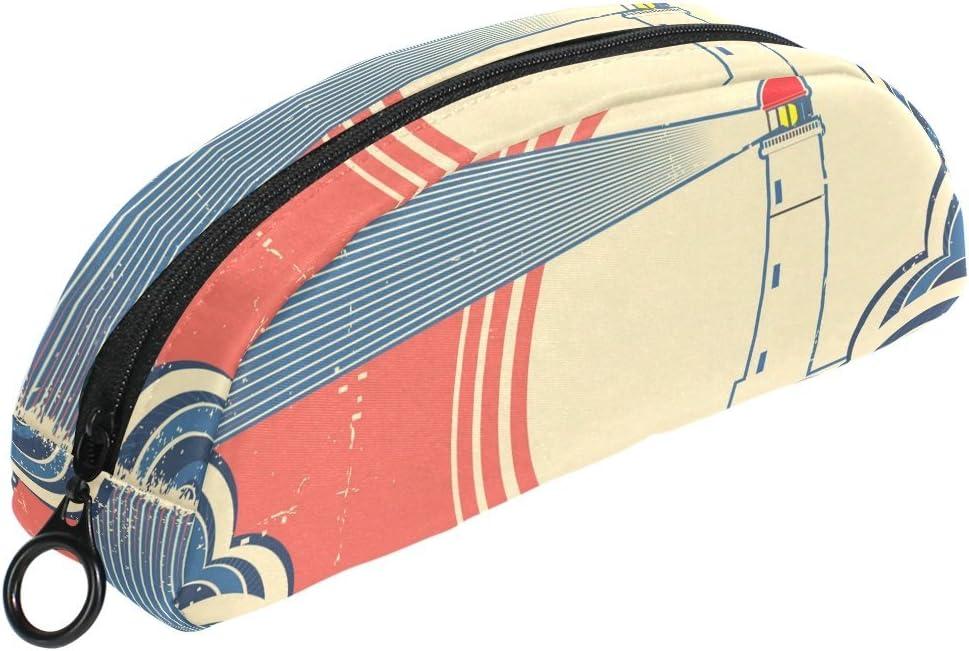 COOSUN Seascape - Estuche para lapiceros con diseño de faro: Amazon.es: Oficina y papelería