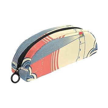 COOSUN Seascape - Estuche para lapiceros con diseño de faro ...