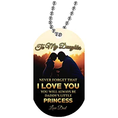 Inspirational Mother Daughter Dog Tag Pendants