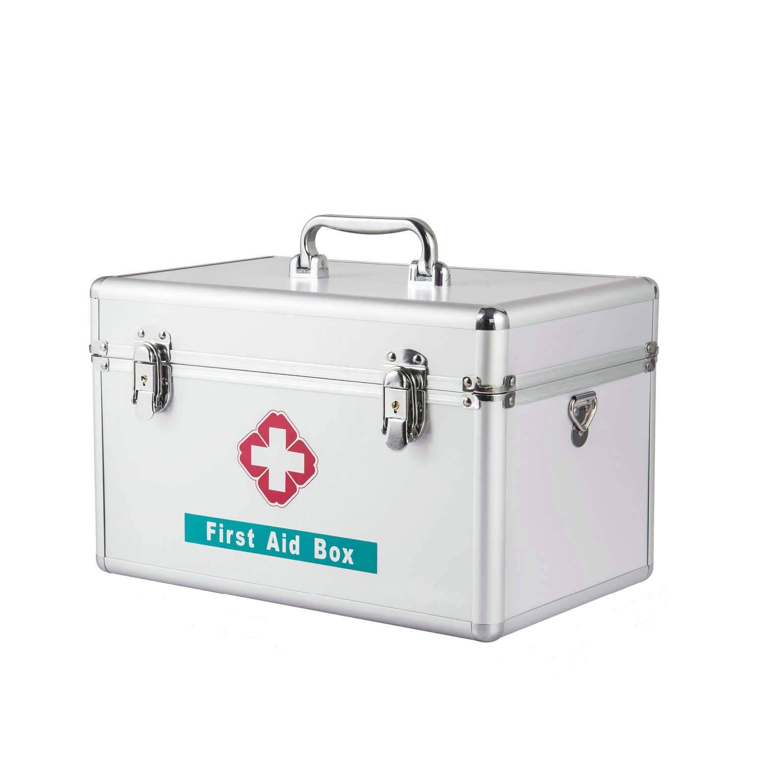 Medicine Box with Lock and Key Multi-Layer Medical First Aid Kit Drug Storage (C) by AMOY TANG